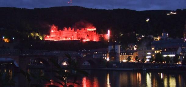 Wohnmobilstellplatz Heidelberg Schlossbeleuchtung 5