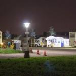 Nachtaufnahme des Stellplatzes mit Rezeption (erstellt von einem jungen Pärchen aus Düsseldorf im Mai 2013)
