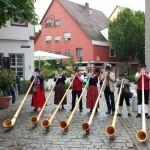 Alphornbläser in Ladenburg im Juni 2014