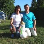 Familie Birkholz hat uns im Sommer einen Schneemann geschenkt