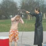 Vielen Dank an 4 Wintergäste aus Warendorf, die bei 5 Grad nicht auf das Duschen verzichten wollten.