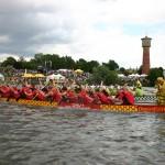 Drachenbootrennen auf dem Neckar in Ladenburg