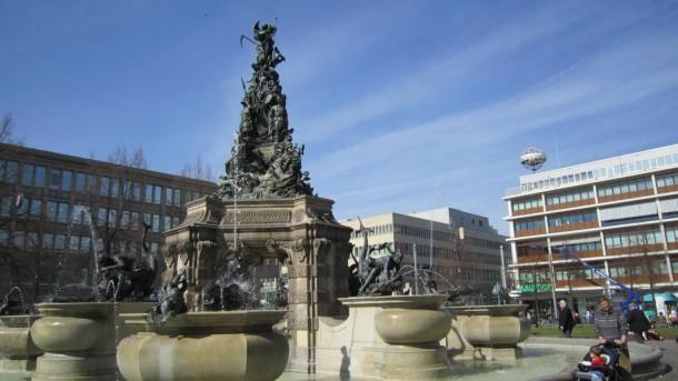 Der Paradeplatz in Mannheim.